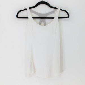 LULULEMON White and Grey Strappy Back Tank 4